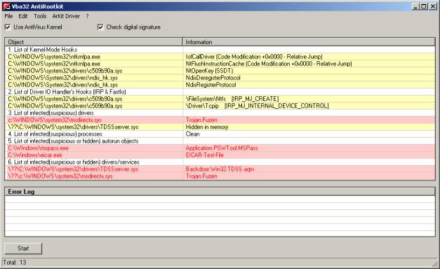 Vba32AntiRootK-Screen